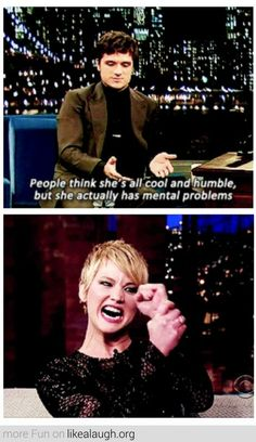 Josh Hutcherson and Jennifer Lawrence everyone.
