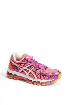 Fast and pink! Asics 'Gel-Kayano 20' running shoe.