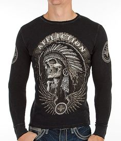 """Affliction Thunderfoot Thermal Shirt"" www.buckle.com"