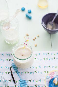 Organic Banana and Farmer's Cow Fresh Milk Baby Puree #recettes pour bébé  | Au Petit Goût