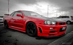 Nissan skyline r34 gtr, just PERFECT in red