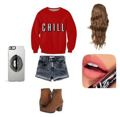 """""""Netflix and Chill"""" by mimzopimzo ❤ liked on Polyvore featuring Abercrombie & Fitch, Fiebiger, Madden Girl and Lipsy"""