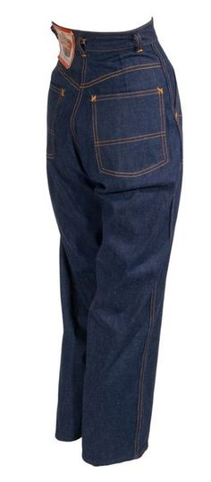 680b9366f26a 1940s Crown Hollywood Waist Jeans. Incredible 40s women s dungarees ...