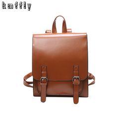 2017 Women backpacks PU leather retro fashion famous designer backpack teenage girl quality  shoulder bag Bagpack Mochila