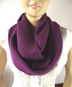 Knit Infinity Scarf Chunky Knitted Scarf by liliavaniniboutique, $48.00