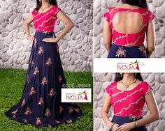 50 ideas skirt pattern long floral maxi for 2019 Kurti Designs Party Wear, Lehenga Designs, Kurta Designs, Blouse Designs, Indian Gowns Dresses, Indian Outfits, Long Gown Dress, Long Frock, Frock Dress