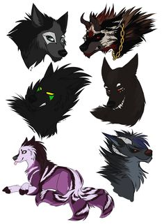 The Crew Pt II by DarkHunter666.deviantart.com on @DeviantArt Drawing Animals, Animal Drawings, Wolf Images, Wolf Wallpaper, Anime Wolf, Werewolves, Dog Art, Doodle Art, Drawing Ideas