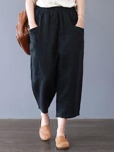 c47561fe31d17 New Summer and Autumn Pants Red Black High Waist Women Harem Pants ...