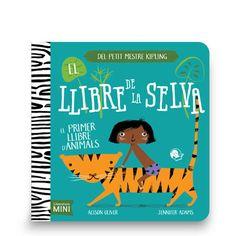 """Títol: El llibre de la selva: el primer llibre d'animals.  Autor: ADAMS, Jennifer.  Editorial: Coco Books.  Resum: Un imatgiari per identificar animals de la selva, per altra banda protagonistes de la novel·la """"El llibre de la selva"""". Una picada d'ull als adults que recordaran les cites que acompanyen les il·lustracions, i acostaran els més petits a una gran obra de la literatura universal. Colors, perspectives, formes... configuren una proposta molt novedosa."""