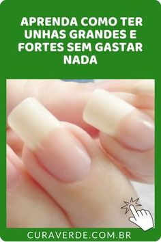 formas de como fazer as unhas crescerem mais rápido. ways to make your nails grow faster. Do you know how to make your nails grow faster? Learn 5 simple and very practica Make Nails Grow, Grow Nails Faster, Crochet Christmas Gifts, Health And Wellness Quotes, Little Bit, Perfect Nails, Natural Nails, Toe Nails, Crafts To Sell