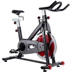 Sunny Health and Fitness Indoor Cycling Bike, Silver