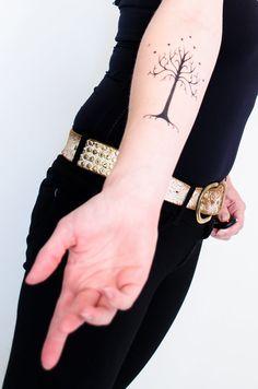 Tree of Gondor Temporary Tattoo by SeventhSkin on Etsy