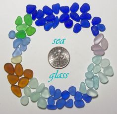 Teeny Tiny Size (60+) Cornflower Lavender Cobalt etc Jewelry Quality Genuine Beach Sea Glass Lot from Ft Bragg (B12) - pinned by pin4etsy.com