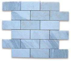 Calacatta Gold Marble Subway Brick Mosaic Tile 2x4 Honed traditional floor tiles