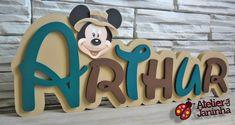 Nome Decorativo Mickey Safari - PROMOÇÃO | Atelier da Janinha | Elo7