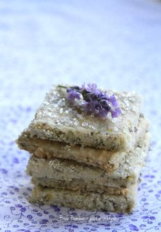 Lavender Lemon Rolled Shortbread Ingredients 1/2 cup unsalted butter, room temperature 1/4 cup sugar 1 cup al...