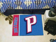 1744e22a797 NBA - Detroit Pistons Uniform Inspired Starter Rug 19