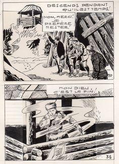 MIKI LE RANGER LES TRAPPEURS  PLANCHE  MONTAGE NEVADA 1959 PIECE UNIQUE PAGE 36 fr.picclick.com
