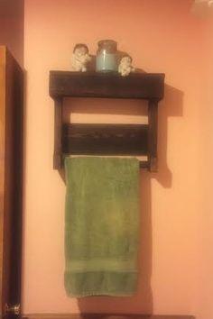 Towel Rack with Shelf