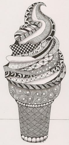 Glace Zentangle, pour des idées de Doodle et de zentangle originales. How to Zentangle. Art Drawings, Drawings, Amazing Art, Doodle Art, Mandala, Art, Zentangle Art, Tangle Art, Cool Drawings