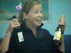 It's wine time: Katie posed with a couple of bottles, doesn't she know that alcohol is calorific? Katie Hopkins, Big Brother House, Celebrity Big Brother, Wine Time, 15 Years, Bottles, Alcohol, Couple, Poses