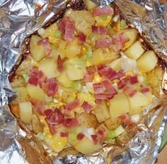 Cheesy Grilled Potatoes from: It's not just about the recipe.
