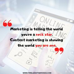 Content marketing is a way to show the world what you can do. #WednesdayMotivation #marketingstrategy #contentmarketing #socialmediamarketing #MotivationalQuotes