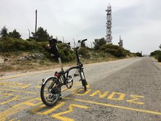 My Brompton on the top of Ymittos mount