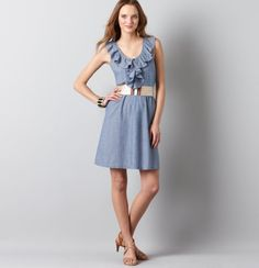 I got this exact dress/belt combo at Loft.  The belt has been dubbed my magic belt because it goes with everything.