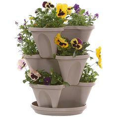 Stacking Planters with Patented Flow (Set of 3) | HOMEBNC SHOP