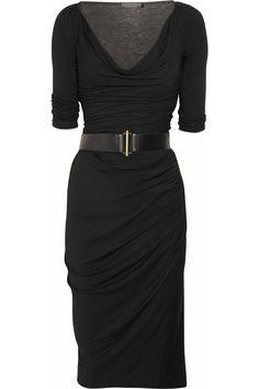 Donna Karan Belted stretch-jersey dress