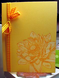large posy on sunshine card by Linda aka Oz, via Flickr