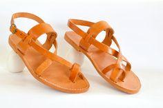 La main sandales en cuir de Roman Grecian neuf par AnaniasSandals