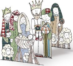Nativity Scene Advent Calendar - 3D