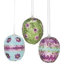 Egg Hunt Ornaments Sequin Kit - Herrschners