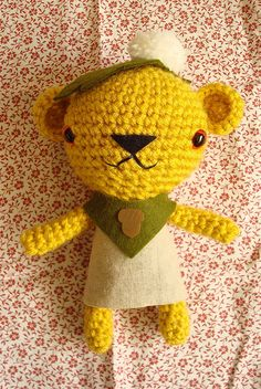 cute crochet bear