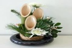 Bamboo on a plate as centerpiece