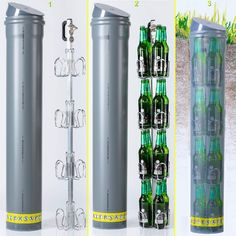 This underground beer cooler can keep your drinks cold without the need for electricity or ice! The Biersafe can come in two diff. Diy Cooler, Beer Cooler, Voss Bottle, Beer Bottle, Bar Refrigerator, Beer Fridge, Back Gardens, Cool Gadgets, Pergola