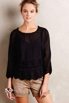Carrara Peasant Top - anthropologie.com