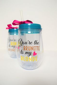 Best Friend Wine Set // Best Friend Set of Two Wine Tumblers