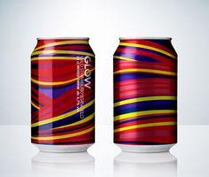 New can design for Glow, a mixed drink from Abro Bryggeri breweries in Europe. Designed by Neumeister, Sweden