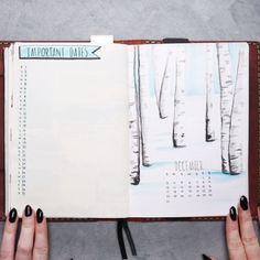 December Bullet Journal // #journal #diary #planner #organization #lifehacks