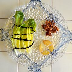 Romaine salad with preserved lemons.