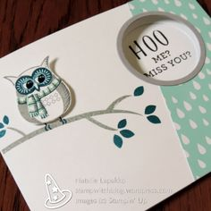 Hidden message card by Natalie Lapakko featuring Cozy Critters stamps and A Little Foxy DSP from Stampin' Up!