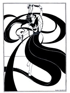 Salome's dance of the Seven Veils, from Aubrey Beardsley's illustrated edition of Oscar Wilde's Salome.