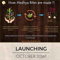 #Launching soon! Stay tuned to grab your own pack of Medhya #supernutritious bites!! Each unit of #Medhyabites is crafted with utmost care to quality and love for health to give you the natures best foods in their most nourishing formation. Learn how Medhya's delicious bites are made and why they are so good for a #healthy #mind and body! 1. Highest quality #herbs #seeds #wholefoods and #natural #sweeteners are procured 2. #Wholesome ingredients are dried pulverised and mixed together in our…