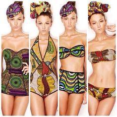 Stella Jean Ankara Swimwear