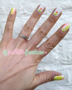 #neon #neoncolor #white #nail #nails #nailart #stud #lapaillettefrondeuse Best Nail Art Designs, White Nail, Cool Nail Art, Fun Nails, Nailart, Neon, Fingernail Designs, Glitter, Ongles