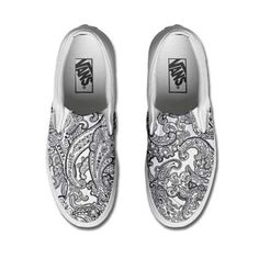 Vans Customized LACK & WHITE PAISLEY only www.makeyourshoes.eu
