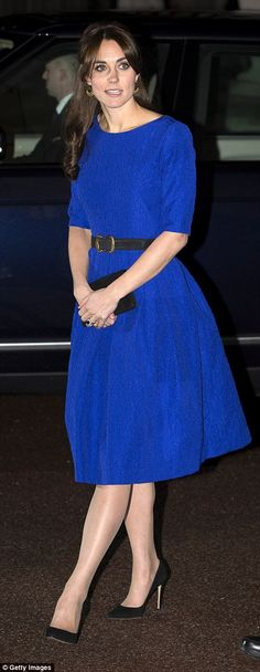 'I would just like to say how delighted I am to be with you all,' Kate said, pictured here leaving the event.